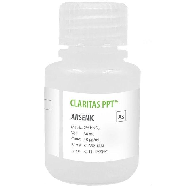 Claritas PPT Grade Arsenic, 10 g/mL (10 ppm) For ICP/ICP-MS in 2% HNO3,