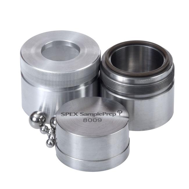 SPEX™ SamplePrepZubehör für Mixer/Mill™ der Serie 8000 Fläschchen-Sets; Set mit Fläschchen aus Hartstahl mit rundem Ende; 60,3x76,2mm Produkte