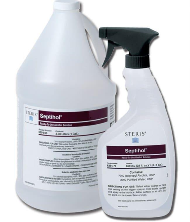 STERIS Septihol Non-Sterile Alcohol Solution 128 oz. (1 Gallon):Wipes,