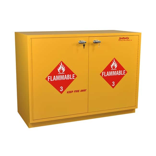 SciMatCo Under-The-Counter Self-Closing Flammables Cabinet:Gloves, Glasses