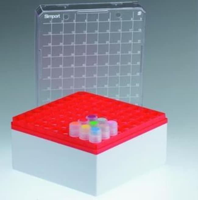 Simport™ ScientificCryostore™ T314-481 Serie Aufbewahrungsboxen Rasterfarbe: Rot Simport™ ScientificCryostore™ T314-481 Serie Aufbewahrungsboxen