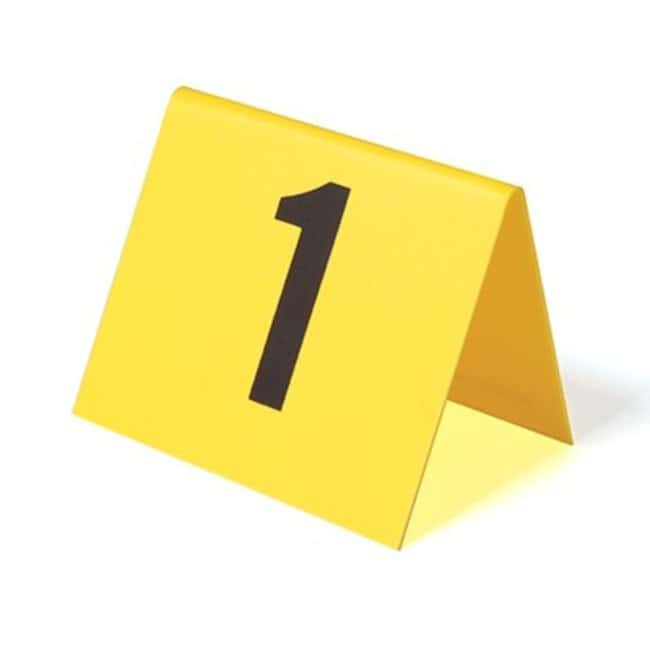 Short Plastic Photo Evidence Numbers Number range: 1 - 15; 3.5 in. W x