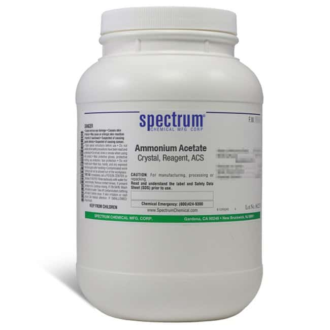 Ammonium Acetate, Crystal, ACS, 97%, Spectrum