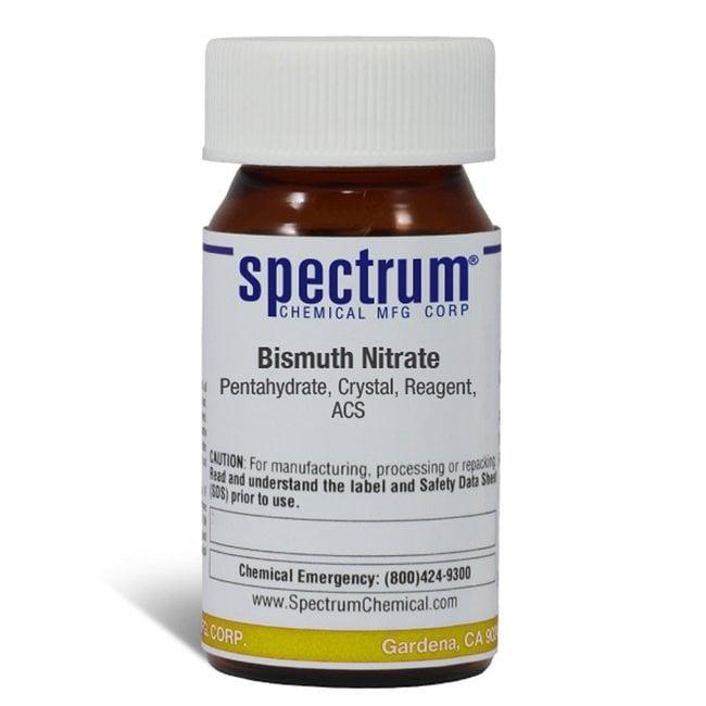 Bismuth Nitrate, Pentahydrate, Crystal, ACS, 98%, Spectrum