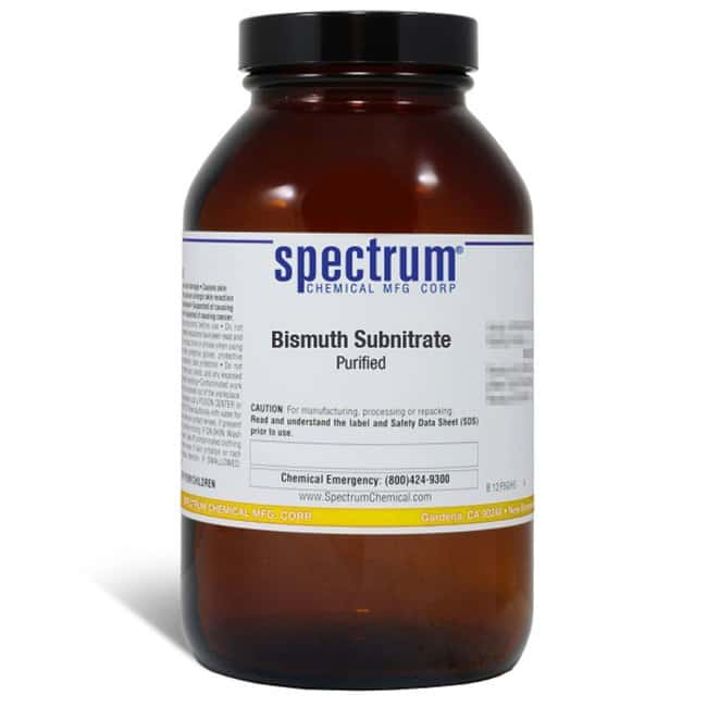 Bismuth Subnitrate, Purified, Spectrum