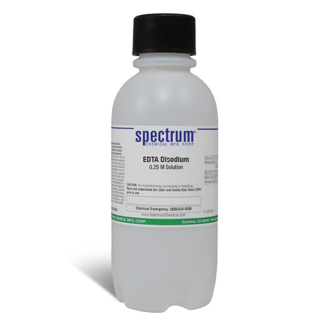 EDTA Disodium, 0.25 M Solution, Spectrum Quantity: 500 mL; Packaging: Poly