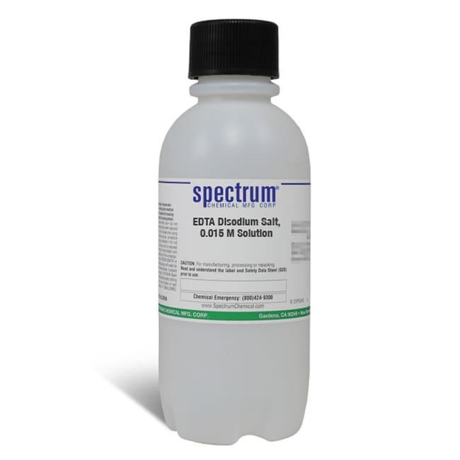 EDTA Disodium Salt, 0.015 M Solution, Spectrum Quantity: 500 mL; Packaging: