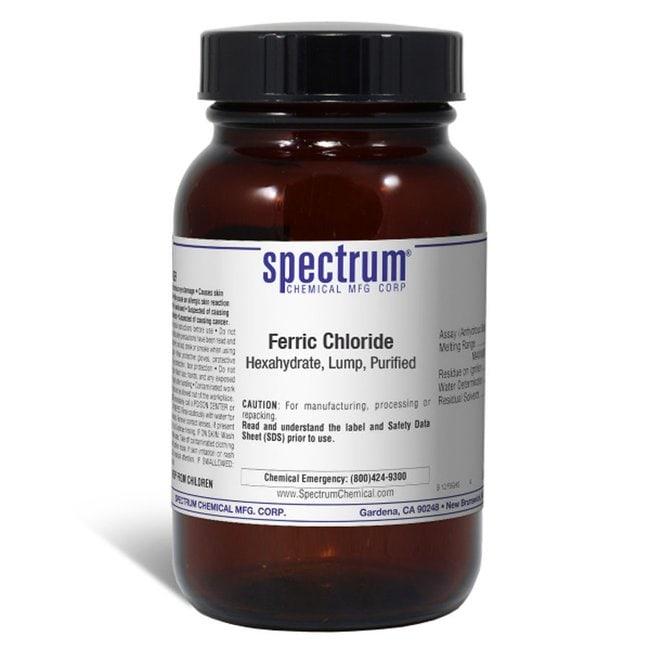 Ferric Chloride, Hexahydrate, Lump, Purified, Spectrum