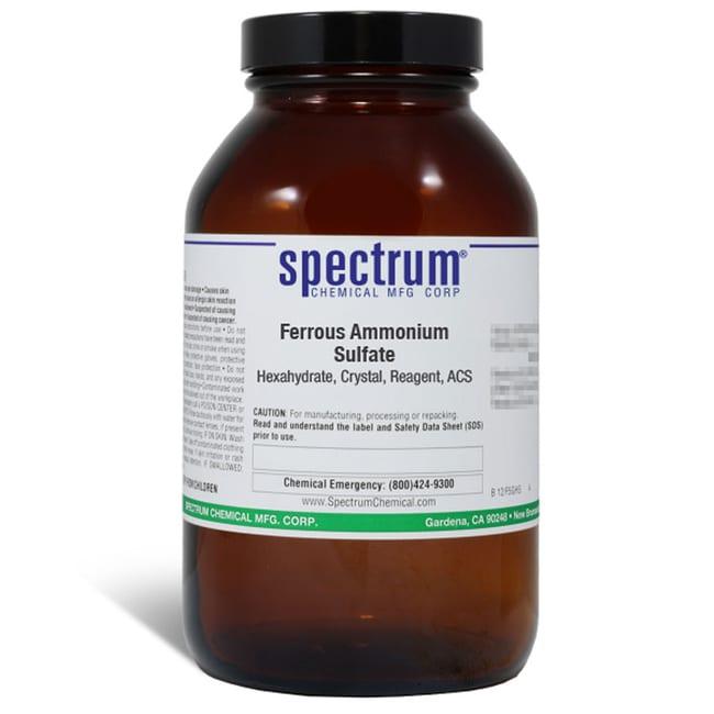 Ferrous Ammonium Sulfate, Hexahydrate, Crystal, ACS, 98.5-101.5%, Spectrum