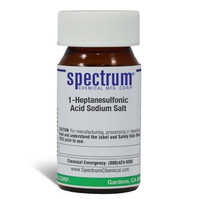1-Heptanesulfonic Acid Sodium Salt, Spectrum