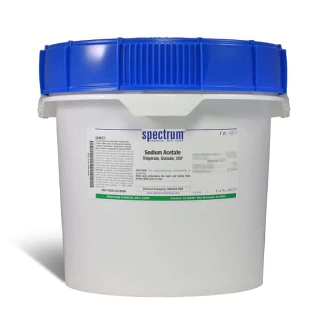 Sodium Acetate, Trihydrate, Granular, USP, 99-101%, Spectrum