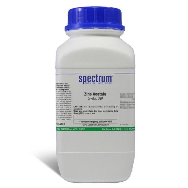 Zinc Acetate, Crystal, USP, 98-102%, Spectrum