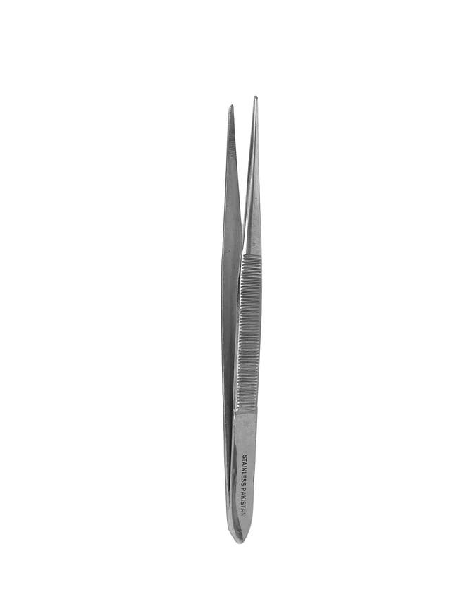 Surgical DesignSplinter Tweezer Forceps, Fine Pointed, Serrated Jaws