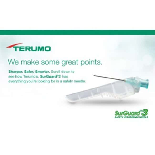 Terumo™ SurGuard™3 Safety Hypodermic Needles, 30G