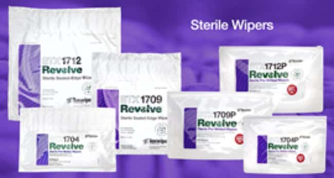 Texwipe Revolve Sealed Edge Dry Wipers 12 x 12 in., Sterile:Gloves, Glasses