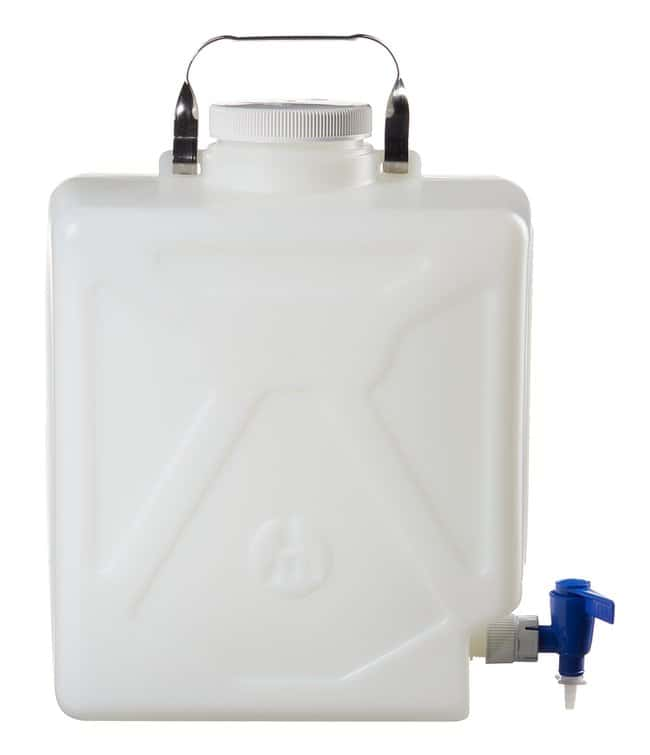 Thermo Scientific™ Garrafón rectangular de HDPE Nalgene™ con llave, 20 l Capacidad: 5,25 gal (20 l) Thermo Scientific™ Garrafón rectangular de HDPE Nalgene™ con llave, 20 l