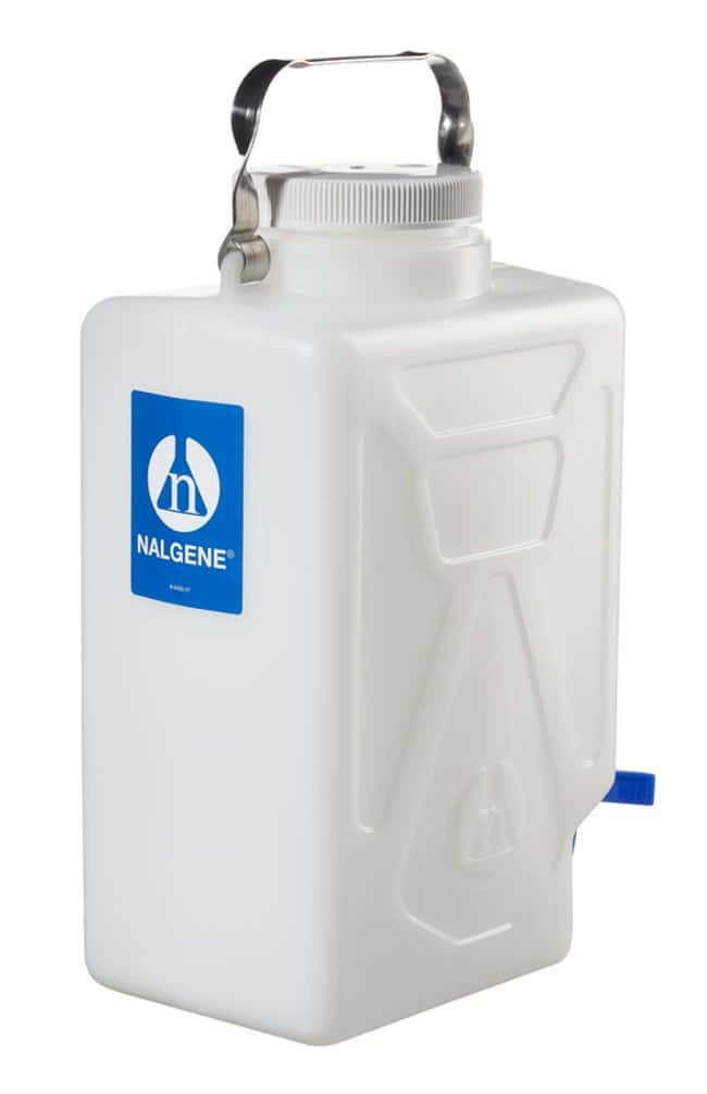 Thermo Scientific™Nalgene™ Rectangular HDPE Carboy with Spigot: Carboys Beakers, Bottles, Cylinders and Glassware