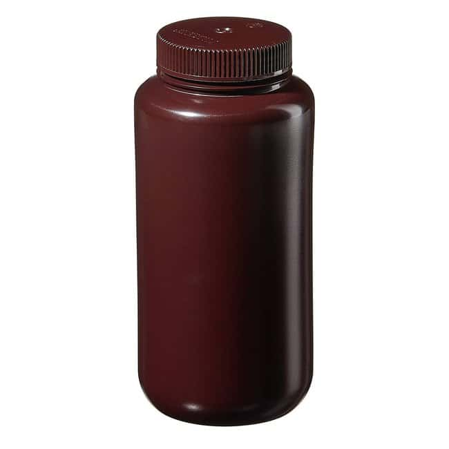 Thermo Scientific™Nalgene™ Wide-Mouth Lab Quality Amber HDPE Bottles Capacity: 32 oz. (1000mL) Thermo Scientific™Nalgene™ Wide-Mouth Lab Quality Amber HDPE Bottles
