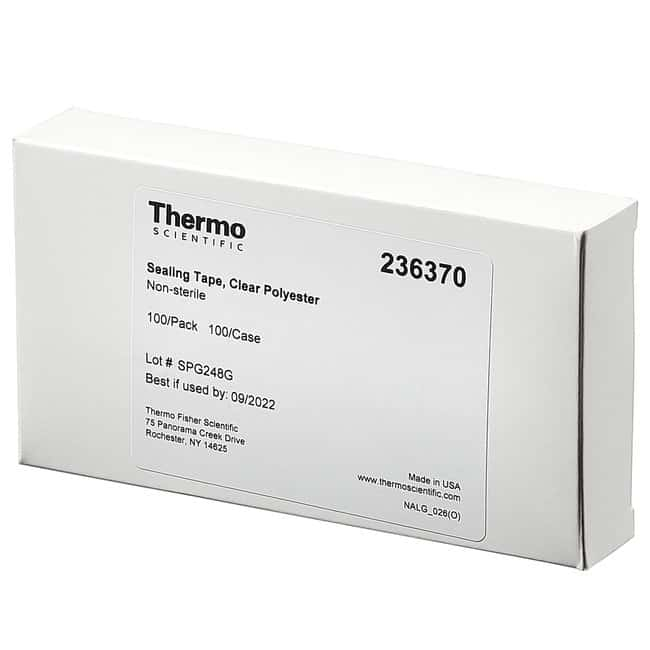 Thermo Scientific™Nunc™ Sealing Tapes Clear polyester adhesive sealing tape, 100/100 Thermo Scientific™Nunc™ Sealing Tapes