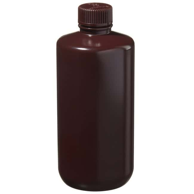 Thermo Scientific™Nalgene™ Narrow-Mouth Amber HDPE Lab Quality Bottles: Bottles Bottles, Jars and Jugs