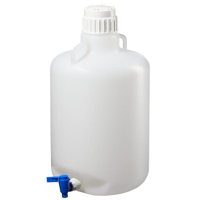 Thermo Scientific™Nalgene™  LDPE, Round Carboy with Spigot Capacity: 5.25 gal. (20L) Thermo Scientific™Nalgene™  LDPE, Round Carboy with Spigot