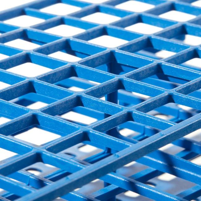 Thermo Scientific™Gradillas para tubos de ensayo Nalgene™ Unwire™: Tecnología de fabricación Resmer™ Para tubos de 16mm; 72puestos; 24,8x 12,7 x 7cm (9,75 x 5 x 2,75pulg.) (long. x anch. x alt.); azul Thermo Scientific™Gradillas para tubos de ensayo Nalgene™ Unwire™: Tecnología de fabricación Resmer™