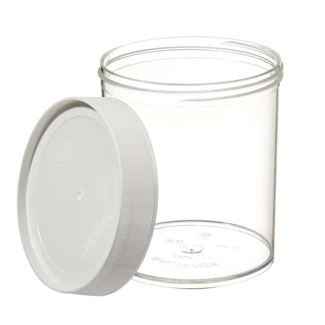 Thermo Scientific™ Nalgene™ Wide-Mouth Straight-Sided PMP Jars with White Polypropylene Screw Closure