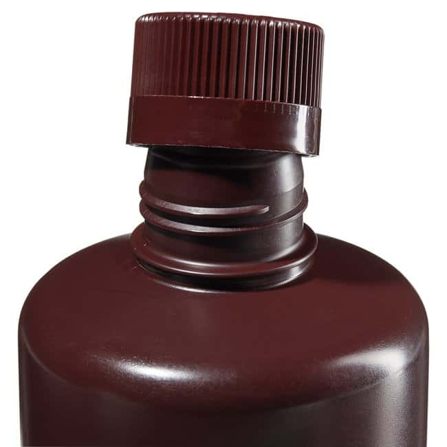 Thermo Scientific™ Nalgene™ Boston Round Narrow-Mouth Opaque Amber HDPE Bottles with Closure: Bulk Pack 1000mL, 38-430 closure, Bulk Pack Thermo Scientific™ Nalgene™ Boston Round Narrow-Mouth Opaque Amber HDPE Bottles with Closure: Bulk Pack
