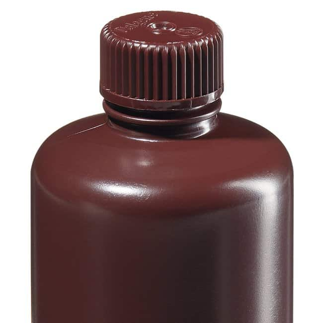Thermo Scientific™Nalgene™ Narrow-Mouth Amber HDPE Lab Quality Bottles Narrow mouth bottle; Amber; Capacity: 8 oz. (250mL) Thermo Scientific™Nalgene™ Narrow-Mouth Amber HDPE Lab Quality Bottles
