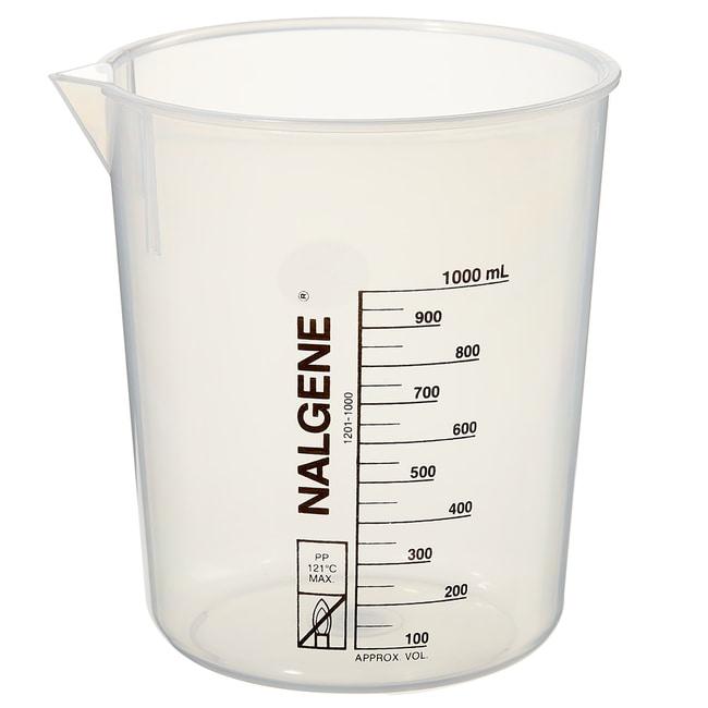 Thermo Scientific™Nalgene™ Polypropylene Griffin Low-Form Plastic Beakers 1000mL Thermo Scientific™Nalgene™ Polypropylene Griffin Low-Form Plastic Beakers