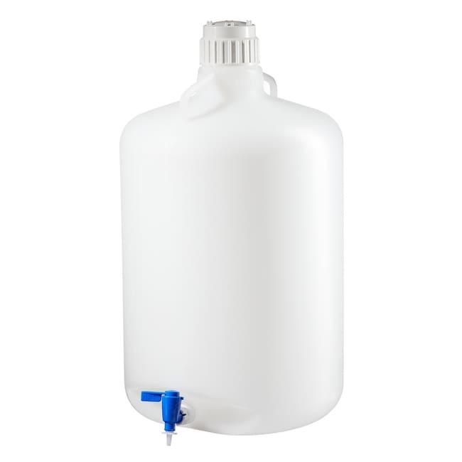 Thermo Scientific™Nalgene™  LDPE, Round Carboy with Spigot Capacity: 13 gal. (50L) Thermo Scientific™Nalgene™  LDPE, Round Carboy with Spigot