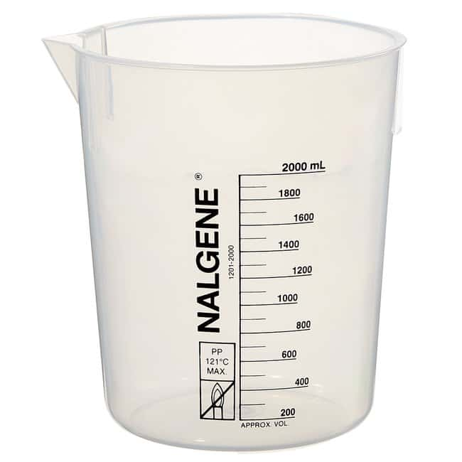 Thermo Scientific™Nalgene™ Polypropylene Griffin Low-Form Plastic Beakers 2000mL Thermo Scientific™Nalgene™ Polypropylene Griffin Low-Form Plastic Beakers