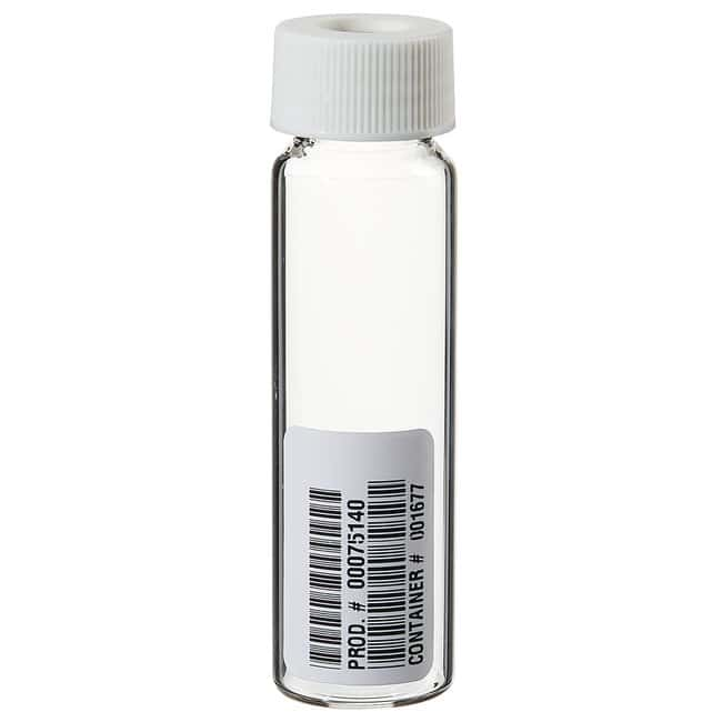 Thermo Scientific I-Chem Clear VOA Glass Vials with 0.125in. Septa 40mL