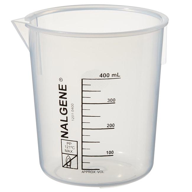 Thermo Scientific™Nalgene™ Polypropylene Griffin Low-Form Plastic Beakers 400mL Thermo Scientific™Nalgene™ Polypropylene Griffin Low-Form Plastic Beakers