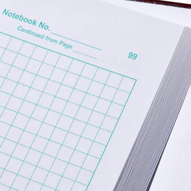Thermo Scientific Nalgene Deluxe Laboratory Notebook  8.5 x; 11 in.; 25