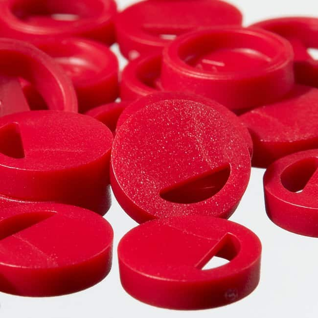 Thermo Scientific™Cryo Vial Closure Color Coders Nalgene Cryovial color coder, PS, red Thermo Scientific™Cryo Vial Closure Color Coders