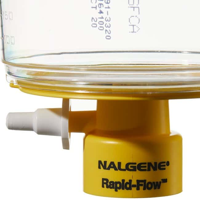 Thermo Scientific™ Nalgene™ Rapid-Flow™ Sterile Single Use Bottle Top Filters 500mL; Fits neck size: 33mm; Pore Size: 0.20μm; Membrane: 75mm Thermo Scientific™ Nalgene™ Rapid-Flow™ Sterile Single Use Bottle Top Filters