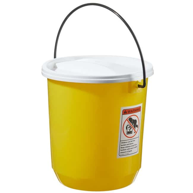 Thermo Scientific Nalgene LDPE Buckets with Lids  Capacity: 14 qt. (13.2L):Wipes,