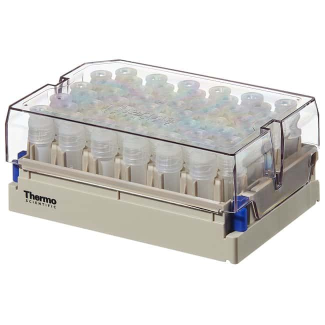 Thermo Scientific™Nunc™ 1.8mL Externally-Threaded Universal Tubes and Racks Nunc 1.8mL External Thread Universal Tubes, non-coded, in latch rack,  10 racks of 48 tubes, Sterile Thermo Scientific™Nunc™ 1.8mL Externally-Threaded Universal Tubes and Racks