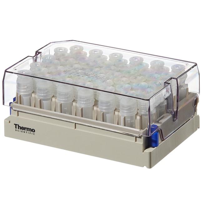 Thermo Scientific™Nunc™ 1.8mL Externally-Threaded Universal Tubes and Racks Nunc 1.8mL External Thread Universal Tubes, w/ 2D code, in latch rack,  10 racks of 48 tubes, Sterile Thermo Scientific™Nunc™ 1.8mL Externally-Threaded Universal Tubes and Racks