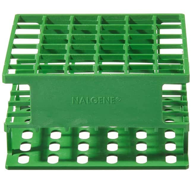 Thermo Scientific™ Nalgene™ Unwire™ Gestelle in halber Größe: Resmer™ Fertigungstechnologie For 16mm tubes, 36 places; 5L x 5W x 21 in. H (12.7 x 12.7 x 6.8cm); Green Thermo Scientific™ Nalgene™ Unwire™ Gestelle in halber Größe: Resmer™ Fertigungstechnologie