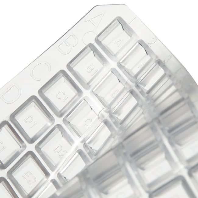 Thermo Scientific™ Nunc™ 96-Well Cap Mats Natural, non-sterile 96 Well Cap Mat for square wells; resistant to DMSO; Package 50 per case Thermo Scientific™ Nunc™ 96-Well Cap Mats
