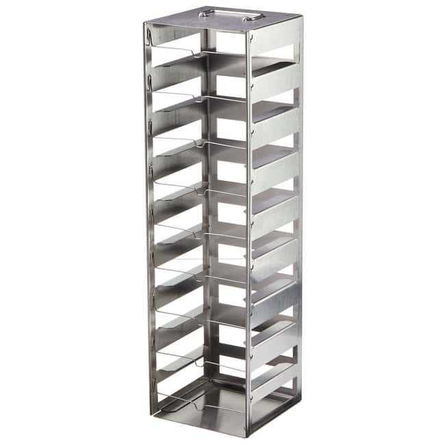 Thermo Scientific™CryoBox™ Tiefkühlgestelle Vertical, stainless steel, 9 compartments, 5.625 x 5.5 x 19.75 in. (D x W x H) Thermo Scientific™CryoBox™ Tiefkühlgestelle