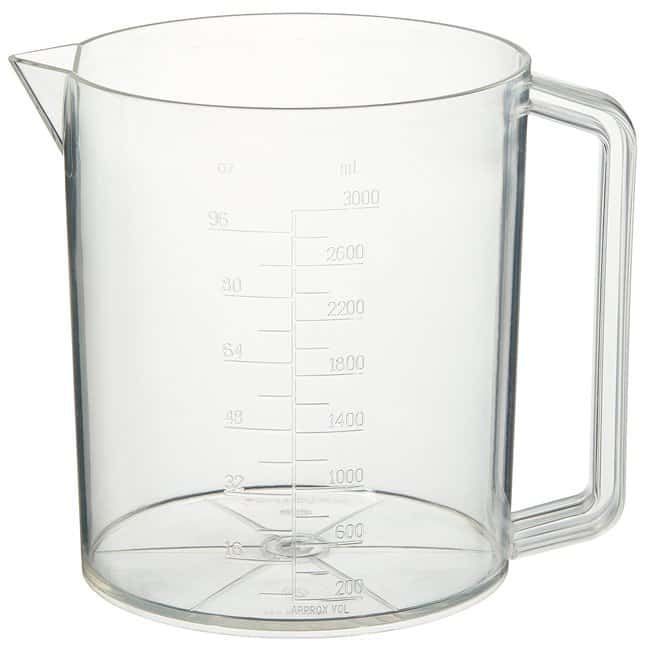 Thermo Scientific™Nalgene™ PMP Graduated Plastic Beakers with Handles: Beakers   50mL, 250mL, 500mL   Fisher Scientific Beakers, Bottles, Cylinders and Glassware