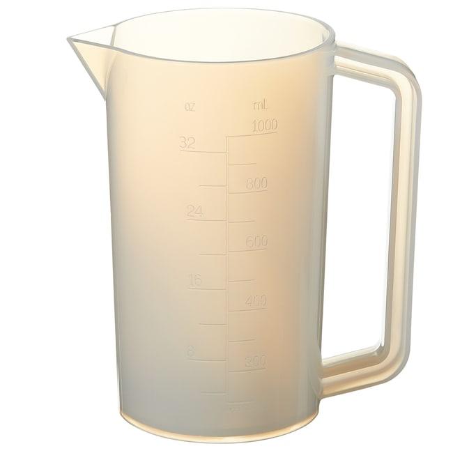 Thermo Scientific™Nalgene™ PFA Graduated Plastic Beakers with Handles: Beakers | 50mL, 250mL, 500mL | Fisher Scientific Beakers, Bottles, Cylinders and Glassware