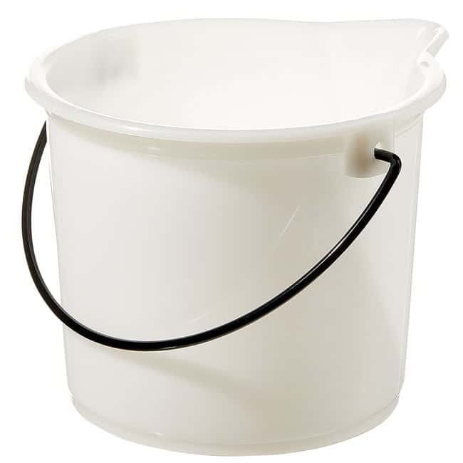 Thermo Scientific Nalgene Graduated HDPE Bucket  2.5 gal. (9.5L) Bucket:Wipes,