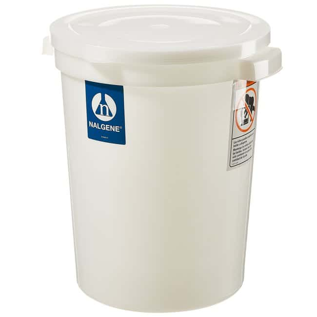 Thermo Scientific™ Nalgene™ Large Cylindrical HDPE Containers with Covers