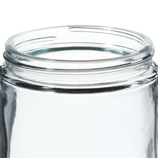 Thermo Scientific  Wide-Mouth Short-Profile Clear Glass Jars with Closure