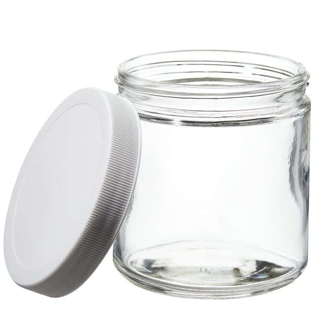 Thermo Scientific™ Wide-Mouth Short-Profile Clear Glass Jars with Closure
