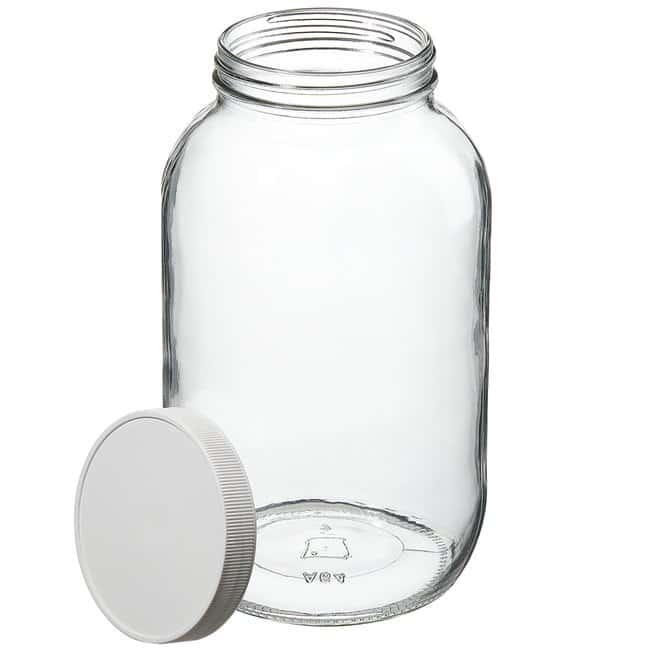 Thermo Scientific™Wide-Mouth Tall-Profile Clear Glass Jars with Closure